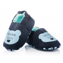 Lekkie buciki niemowlęce niechodki - KPI005 navy