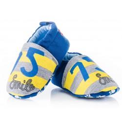 Lekkie buciki niemowlęce niechodki - KPI006 yellow/grey