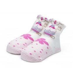 Skarpetki niemowlęce dla dziewczynki.