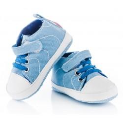 Trampki niechodki dla niemowlaka - błękitne.