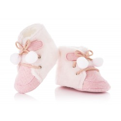 Kozaczki niemowlęce niechodki dla dziewczynki.