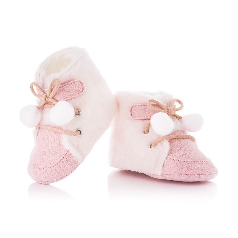 Kozaczki niemowlęce niechodki dla dziewczynki. Rozmiar obuwia 1718 (10,0 10,5 cm) Kolor Rożowy