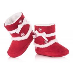Świąteczne kozaczki niemowlęce - niechodki.
