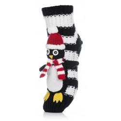 Skarpetki na mikołajkowy prezent - świąteczny pingwinek.