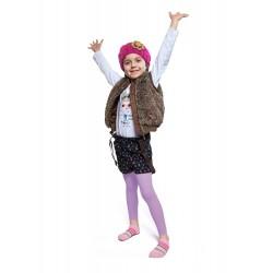 Ciepłe getry polarowe dla dziewczynki - jasny fiolet.