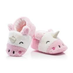 Buciki dla małej dziewczynki - różowe jednorożce.