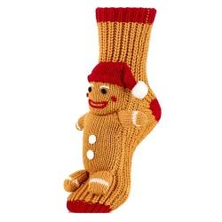 Skarpetki na świąteczny prezent - ciastek w czerwonej czapce..