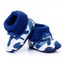 Lekkie buciki dla chłopca, wywijana cholewka.