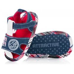 Lekkie sandałki niemowlęce dla chłopca - buciki niechodki na lato.