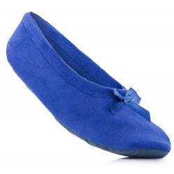 Niebieskie baletki damskie. Lekkie i wygodne baleriny domowe.