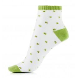 Zielone bawełniane skarpetki damskie. Niskie i wygodne w noszeniu.