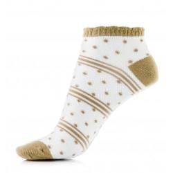 Cienkie bawełniane przewiewne stopki damskie w kolorze brązowym.