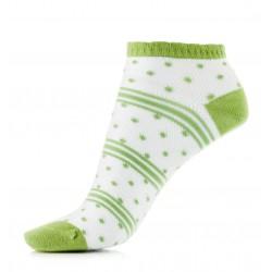 Cienkie bawełniane przewiewne stopki damskie w kolorze zielonym.