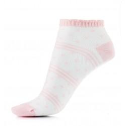 Cienkie bawełniane stopki damskie w kolorze różowym.
