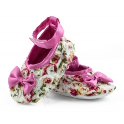 Lekkie buciki niemowlęce - GFA002 - white/pink