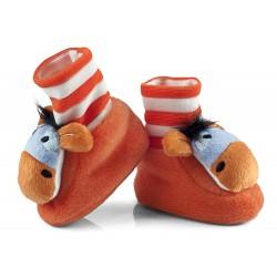 Buciki niemowlęce z grzechotką - BCI007 orange