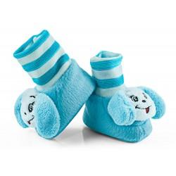 Buciki niemowlęce z grzechotką - BCI009 blue