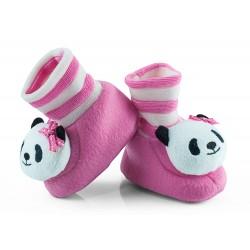 Buciki niemowlęce z grzechotką - BCI008 pink