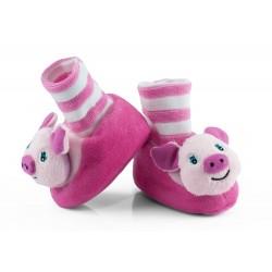 Buciki niemowlęce z grzechotką - BCI006 pink