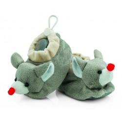Buciki niemowlęce z grzechotką - BSM005 grey