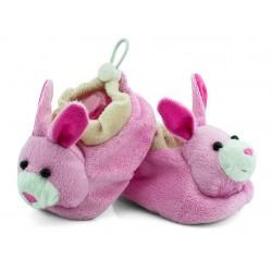 Buciki niemowlęce z grzechotką - BSM006 pink
