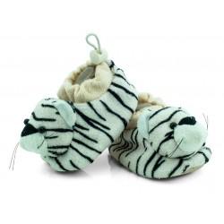 Ciapy niemowlęce z grzechotką, tygrysy.