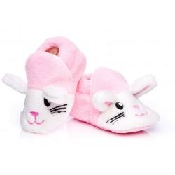 Buciki niechodki dla dziewczynki - różowe.