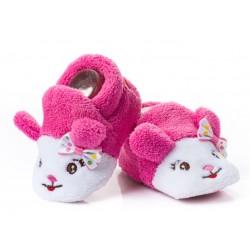 Kapcie dla niemowlaka - różowe myszki dla dziewczynki.