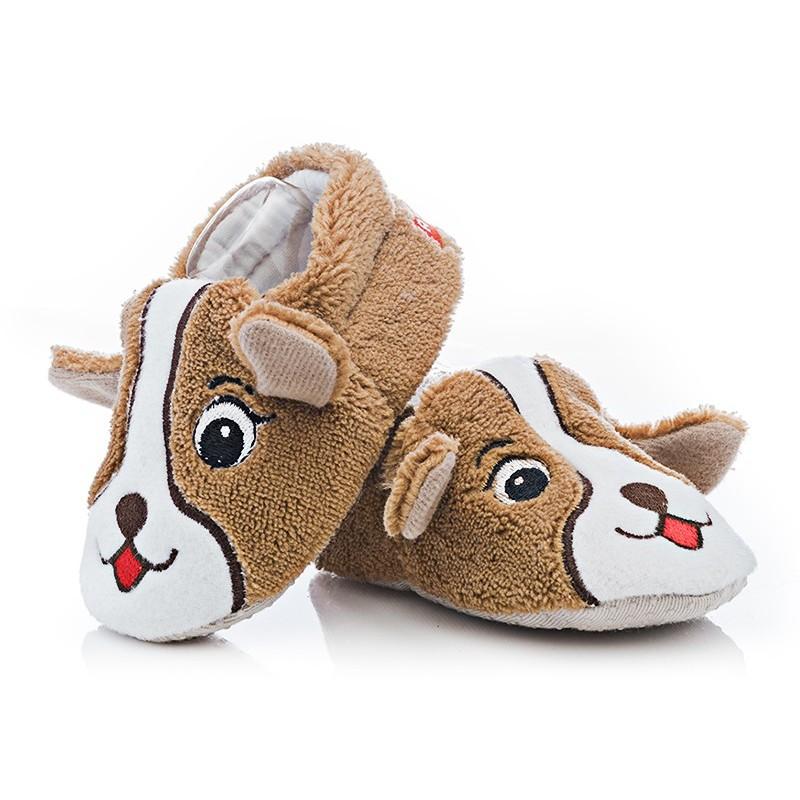 293823a93f2e1 Ciepłe buciki niemowlęce - BFU034 brown Rozmiar obuwia 17/18 - (10,0-10,5  cm) Kolor Brązowy