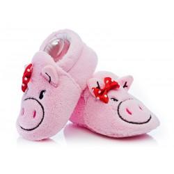 Kapcie dla małej dziewczynki - różowe świnki.
