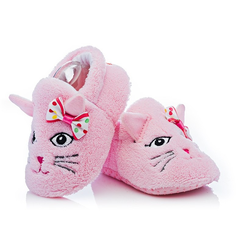 f5f1910d9124f Ciepłe buciki niemowlęce - BFU037 pink Rozmiar obuwia 17/18 - (10,0-10,5  cm) Kolor Rożowy