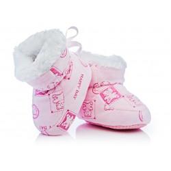 Buciki dla małej księżniczki. Puchate i bardzo wygodne.
