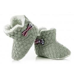 Ciepłe kozaczki niemowlęce - KSZ002 - grey