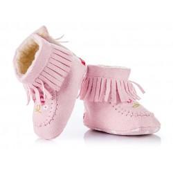 Ciepłe kozaczki niemowlęce - KSZ006 - pink