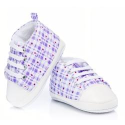 Trampki niemowlęce ocieplane - KTW004 lila