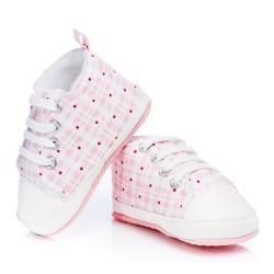 Trampki niemowlęce ocieplane - KTW004 pink