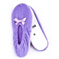 Dziewczęce balerinki welurowe - GBA001 violet