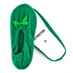 Dziewczęce balerinki welurowe - GBA001 green