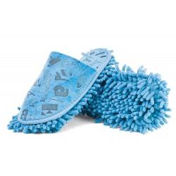 Mopki z podeszwą czyszczącą z mikrofibry - niebieskie