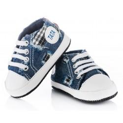 Trampeczki niemowlęce niechodki - KTR004 jeans