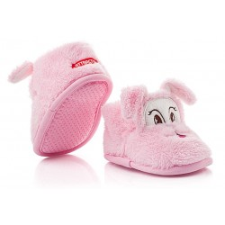 Ciepłe buciki dziecięce zapinane na rzep - KSO002 pink