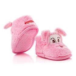 Ciepłe buciki dziecięce zapinane na rzep - KSO007 fuxia