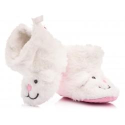 Białe kozaczki niemowlęce - niechodki.