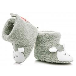 Kozaczki niemowlęce niechodki - szare owieczki.