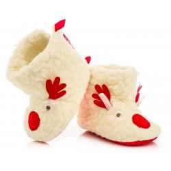 Ciepłe kozaczki niemowlęce niechodki- reniferki.