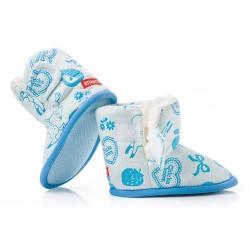 Ciepłe buciki dziecięce zapinane na rzep - KSO004 blue