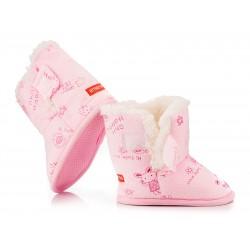 Ciepłe buciki dziecięce zapinane na rzep - KSO009 pink