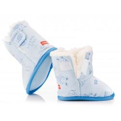 Ciepłe buciki dziecięce zapinane na rzep - KSO009 blue
