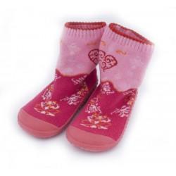 Skarpetki frotte z gumową podeszwą - KDI005 pink