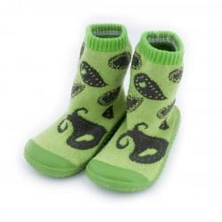 Skarpetki frotte z gumową podeszwą - KDI006 green